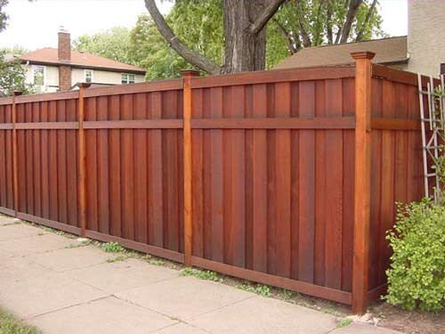 Wood fences charlotte fencing company for Wood privacy fence ideas